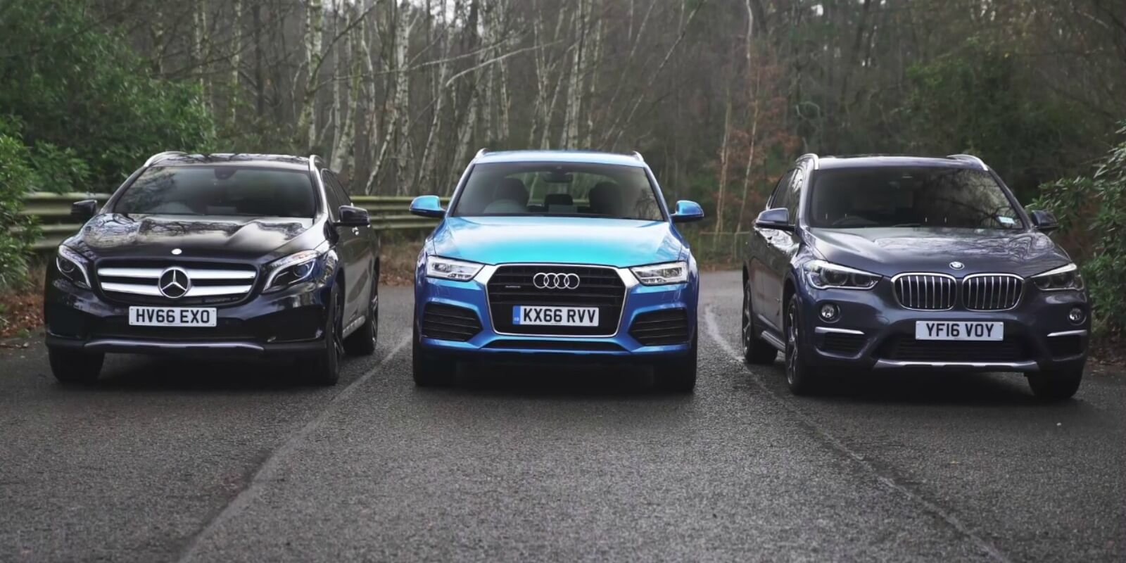 BMW X1 vs Audi Q2 vs Mercedes GLA